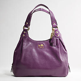 The purple leather Maggie purse for me