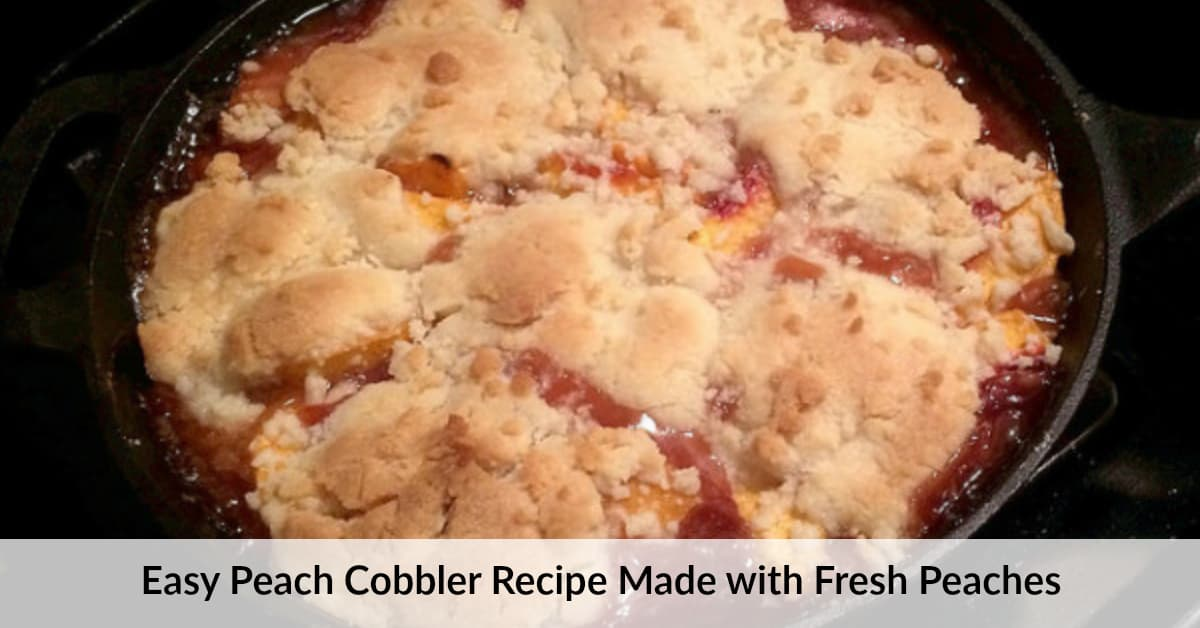 Recipe For Peach Crisp With Fresh Peaches And Cake Mix