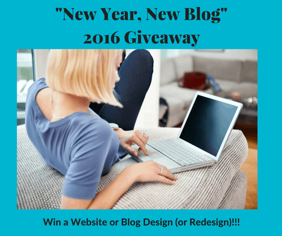 New Year, New Blog  (Win a Website or Blog Design!)