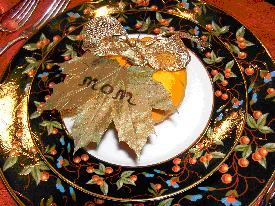 Thanksgiving Decorations - interesting place card