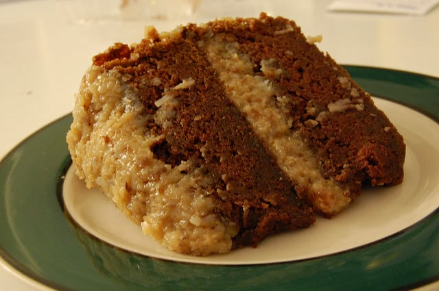 Best Vegan German Chocolate Cake Recipe (Includes coconut-pecan frosting and vegan chocolate ganache directions (Courtesy of Alice's Tea Cup)