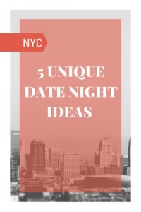 5 unique date night ideas for married couples