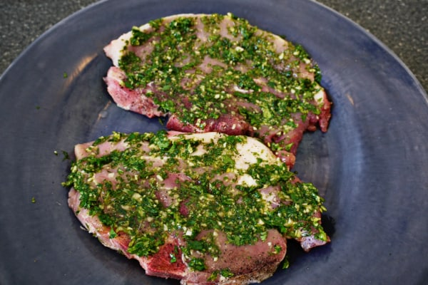 How to Make an Easy Garlicky Chimichurri Sauce Recipe - based on an elevator conversation with my elderly neighbor- olive oil, garlic, fresh parsley & moren Easy Garlicky Chimichurri Sauce