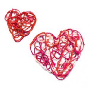 5 Cute Valentine's Day Crafts To Make at Home - valentine's day crafts with yarn