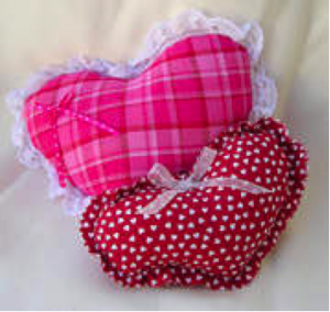valentines day crafts heart shaped pillows