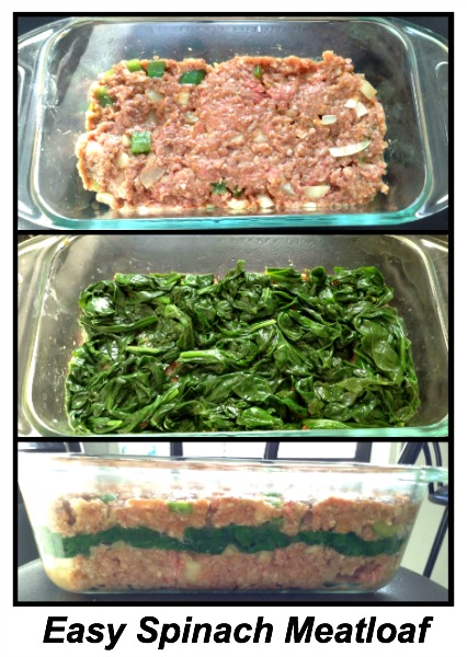 easy spinach meatloaf recipe