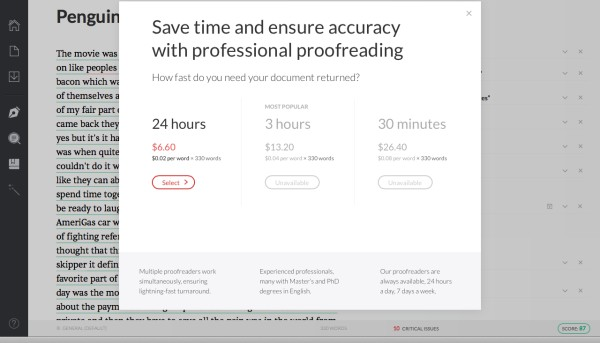 grammarly proofreading