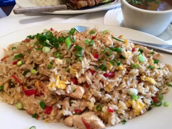 Arroz Chaufa De Pollo (chicken fried rice)