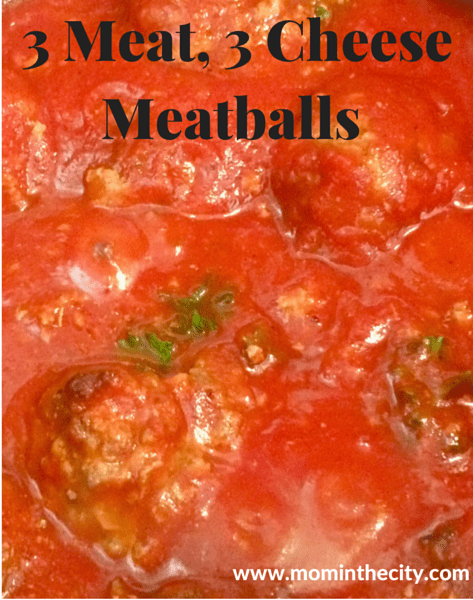3 Meat, 3 Cheese Meatballs (Easy Baked Meatballs Recipe)