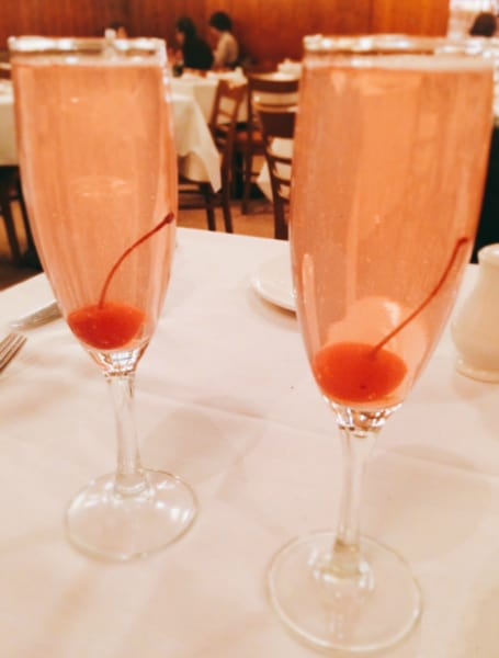 PINK LADY cocktail - X Rated Fusion topped with Prosecco