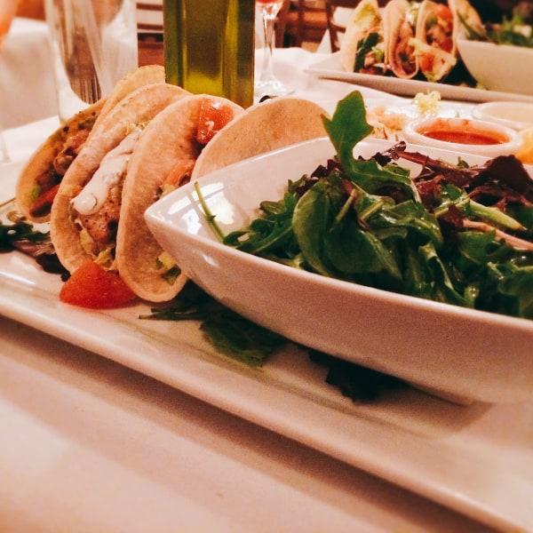 seven bistro menu - The Mahi Mahi fish tacos (with a small side salad) were especially amazing.