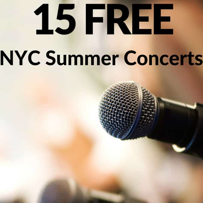 15 Best Free Concerts in NYC in the Summer. There is a wide range of free concerts that are available - from classical music to hip-hop.