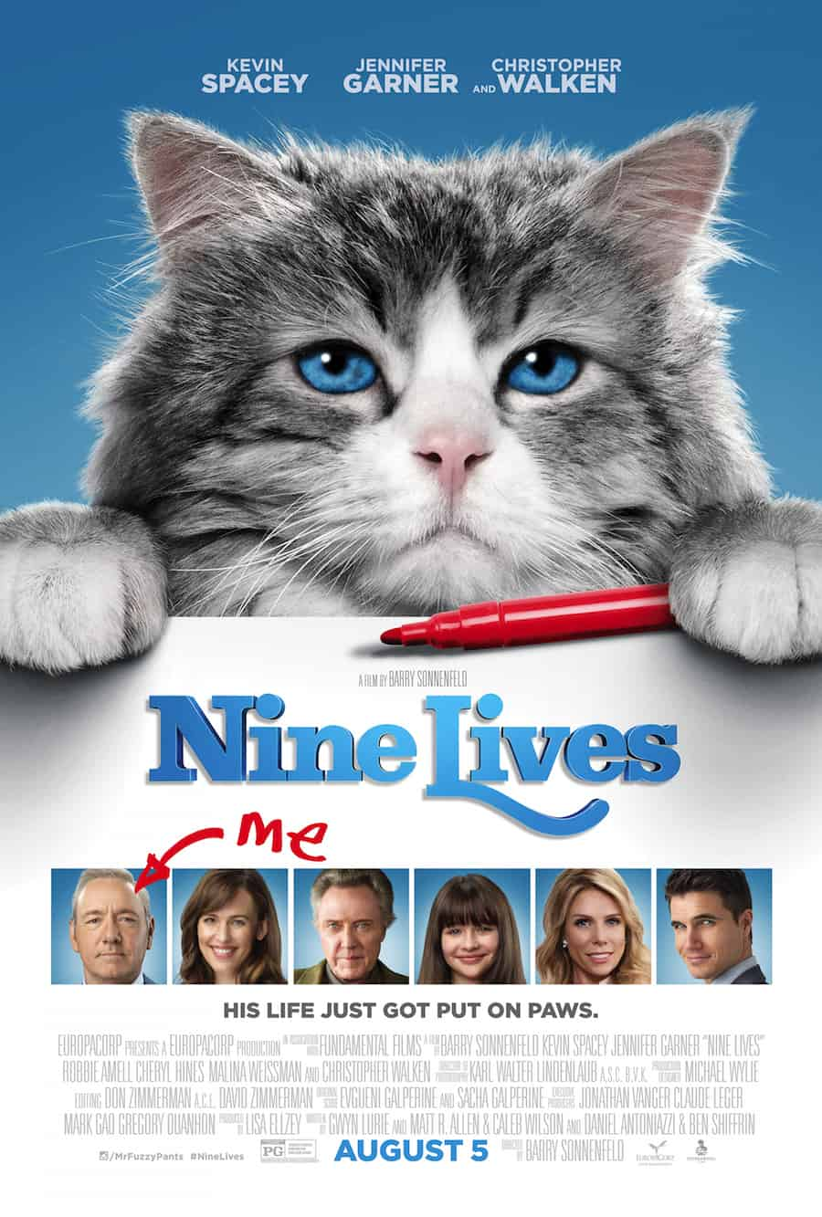 Nine Lives Movie Review - cute family movie especially for cat lovers