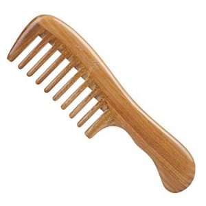 Breezelike Hair Comb for Detangling Wide Tooth Wood Comb for Curly Hair