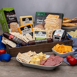 Meat and Cheese Gift Basket - Special Christmas Gift Ideas for Food Lovers 2020