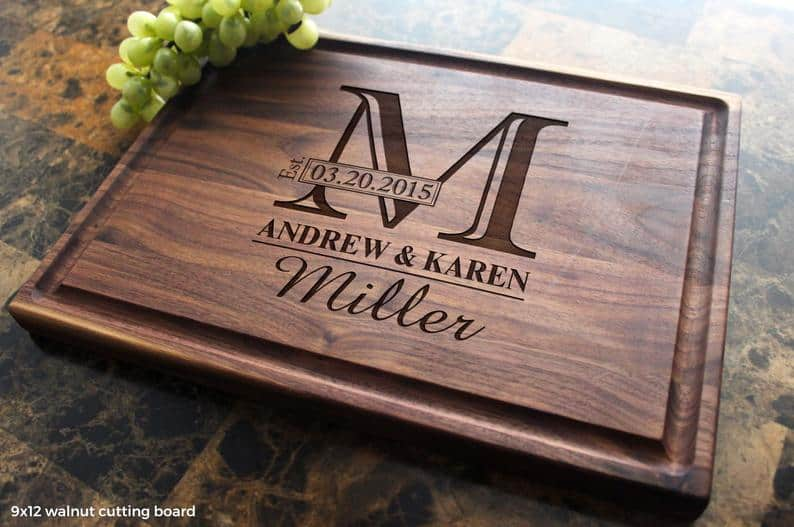 personalized-cutting-board - Best Kitchen Gift Ideas for Home Cooks 2020