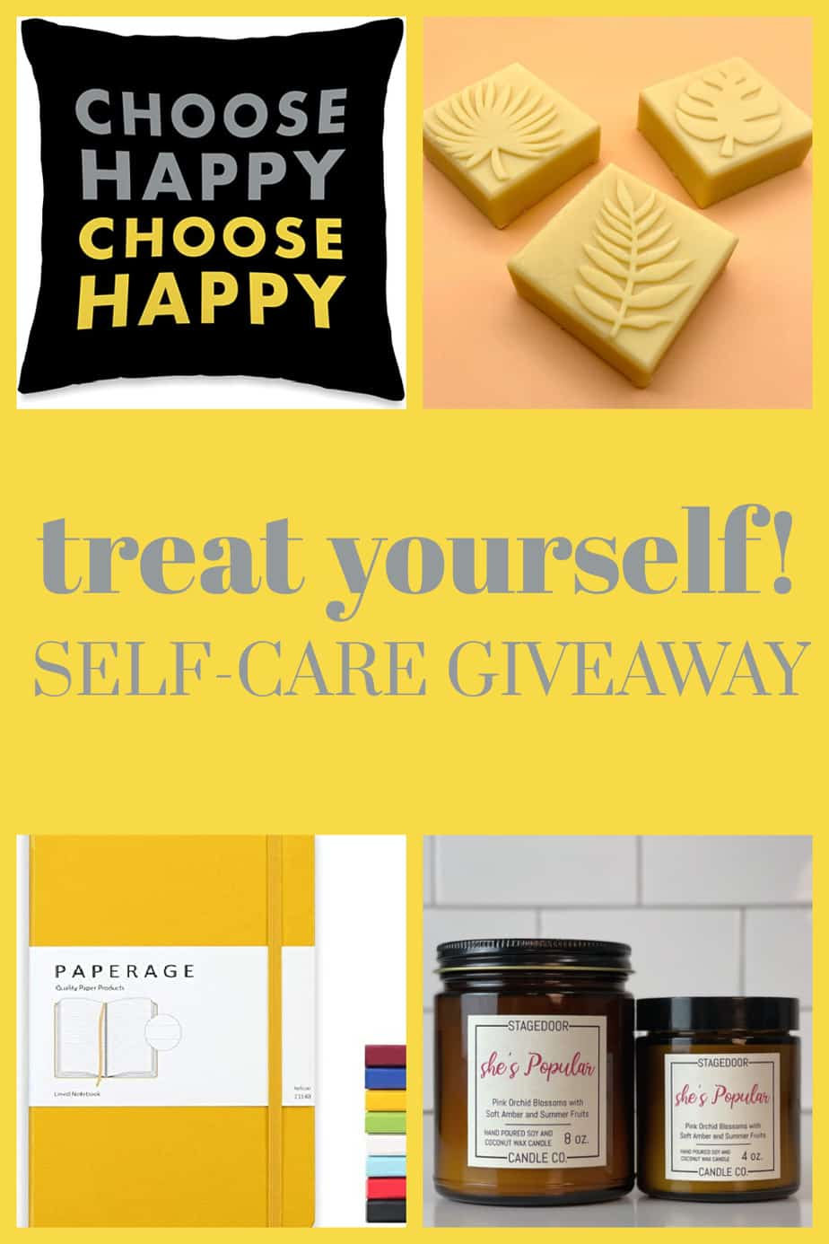 self care ideas : giveaway including self care journal and self care products that smell good!