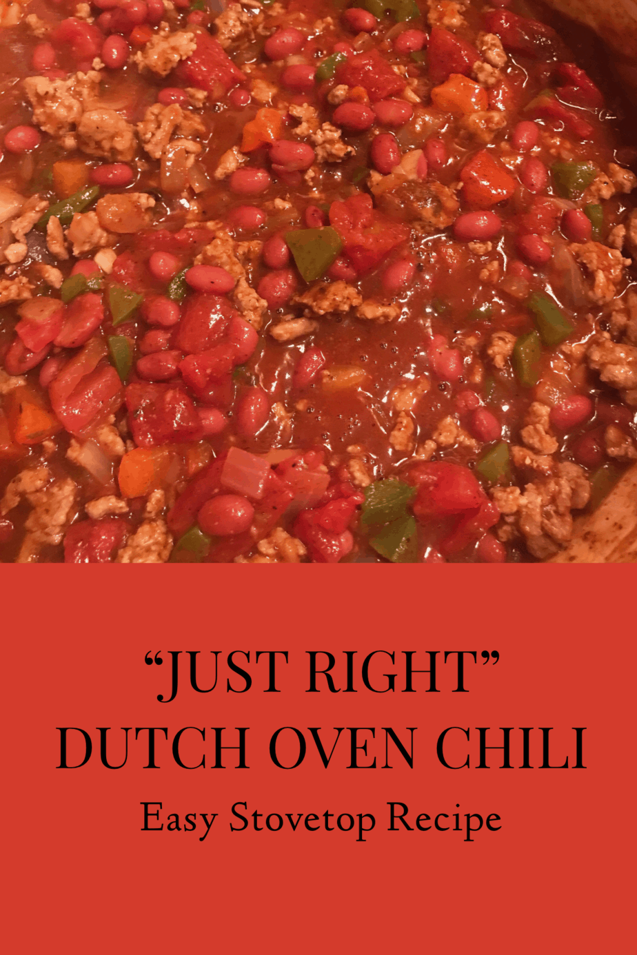 Easy chili in dutch oven recipe with best chili ingredient!