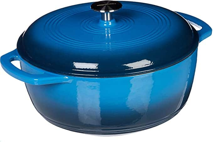 enameled cast iron covered dutch oven