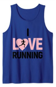 I Love Running Pink Heart Funny Alternative Valentine's Day Shirt