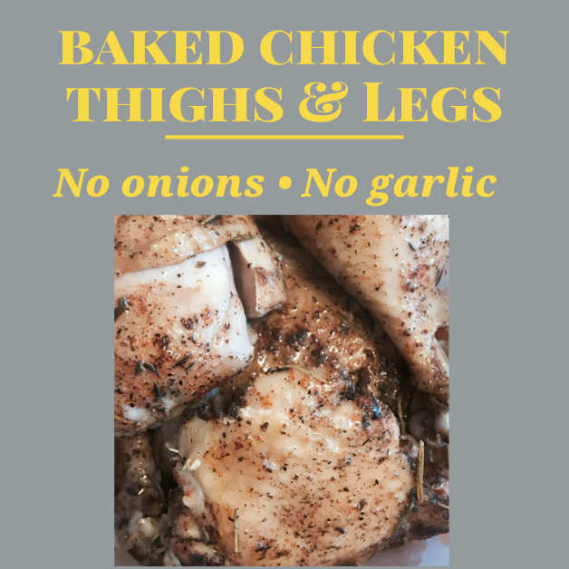 Simple Baked Chicken Recipe Without Onions or Garlic (Juicy &  Flavorful)