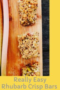 Really Easy Rhubarb Crisp Bars